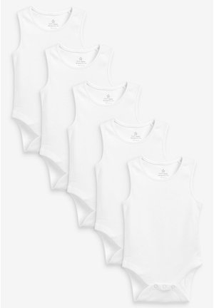 5 PACK GOTS ORGANIC VEST BODYSUITS - Body - white