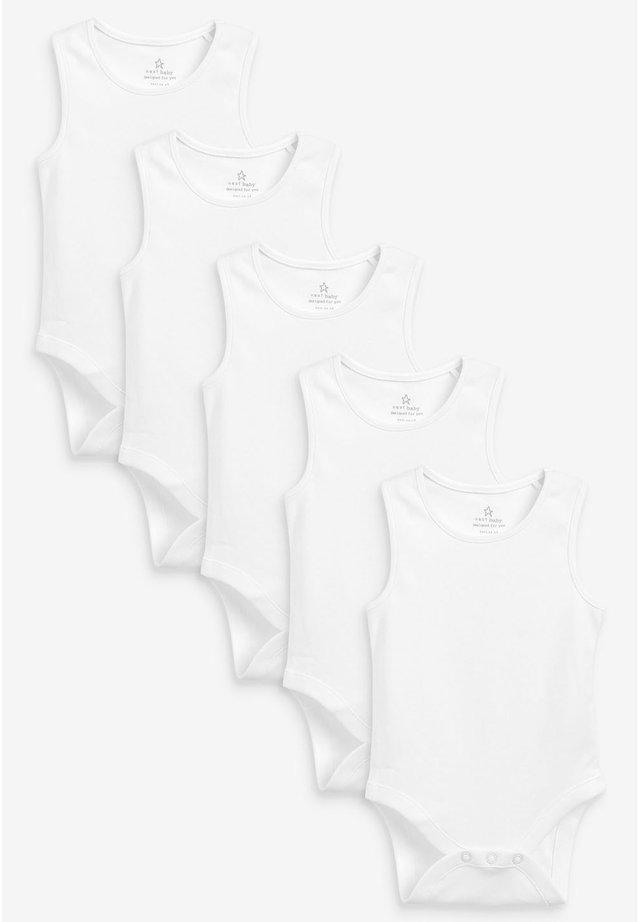 5 PACK GOTS ORGANIC VEST BODYSUITS - Body - white