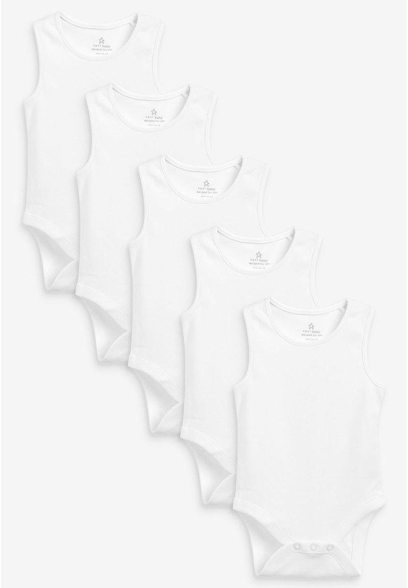 Next - 5 PACK GOTS ORGANIC VEST BODYSUITS - Body - white