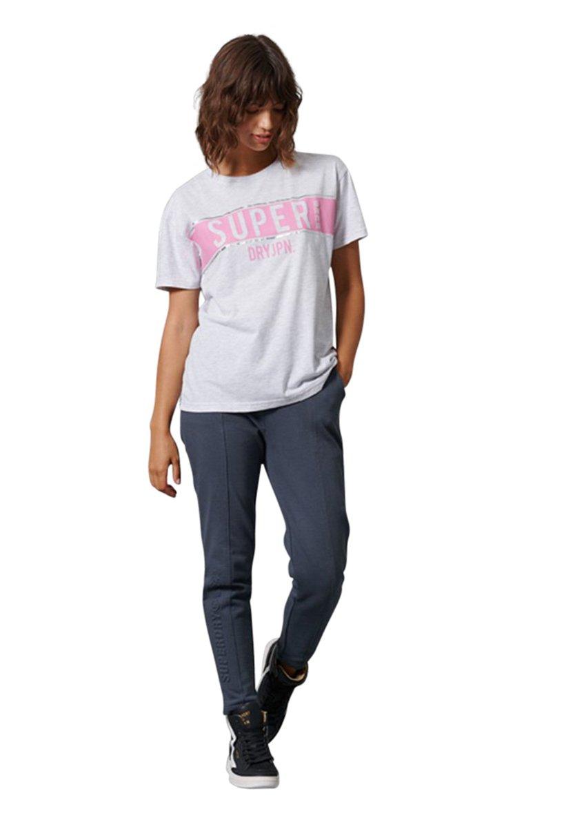Femme SDRY PANEL TEE - T-shirt imprimé