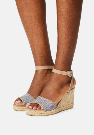 YAMINA - Platform sandals - harajuku azul/pharos taupe
