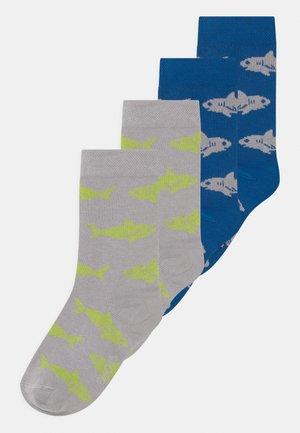SHARK 4 PACK - Socks - blue/grey