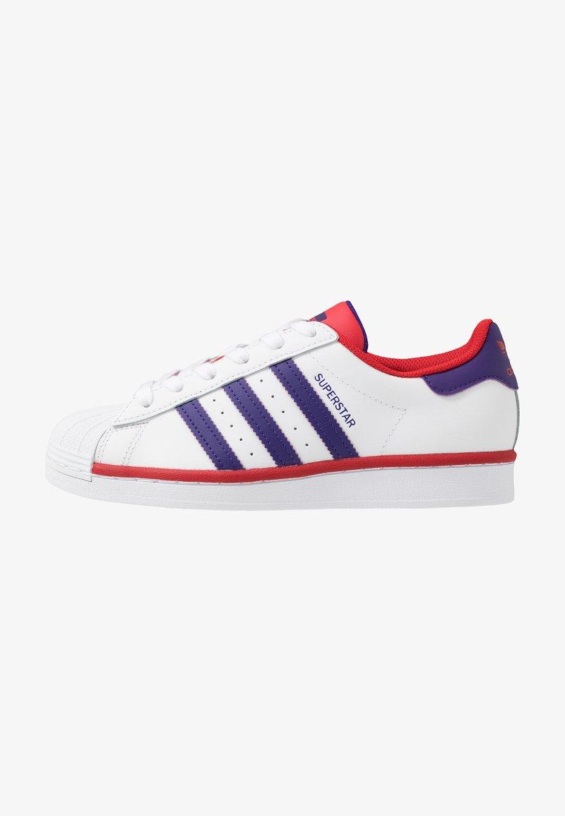 adidas Originals - SUPERSTAR - Sneakers laag - footwear white/purple/scarlet