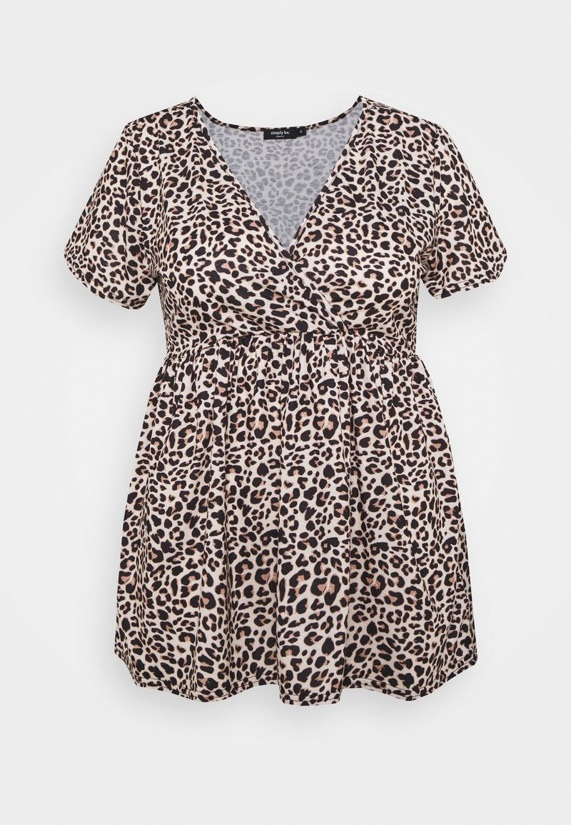 CAPSULE by Simply Be - WRAP SWING TUNIC - Long sleeved top - animal