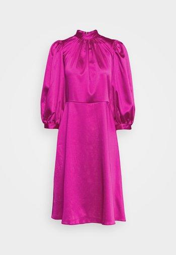 CLOSET HIGH NECK PUFF SLEEVE MINI DRESS - Cocktail dress / Party dress - pink