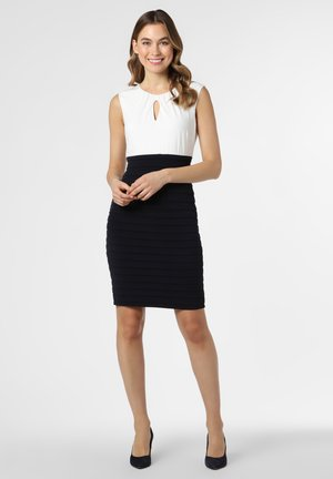 Shift dress - marine weiß
