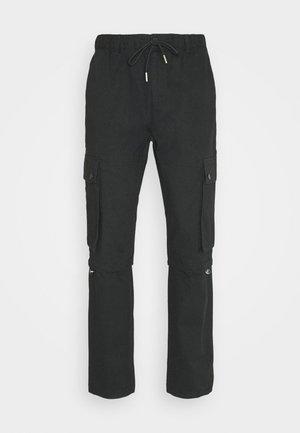 TECH BUNGEE - Pantalon cargo - black