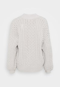 Abercrombie & Fitch - CHENILLE IN CABLE CARDI - Cardigan - cream - 1