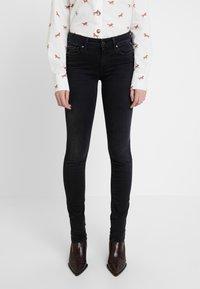 Replay - LUZ HIGH WAIST HYPERFLEX CLOUDS - Jeans Skinny Fit - black - 0