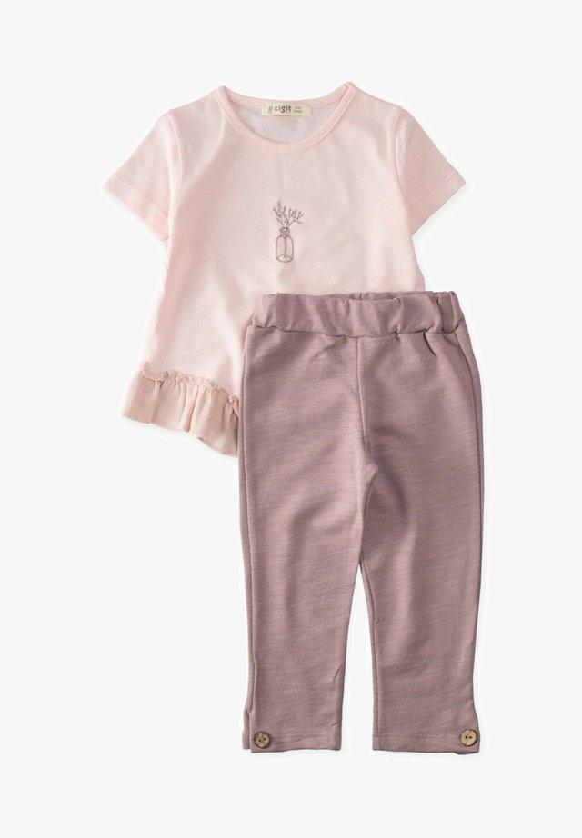 SET - Pantaloni sportivi - light pink