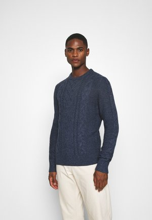 Sweter - mottled dark blue