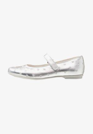 Ankle strap ballet pumps - argento