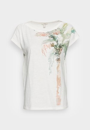 BOAT NECK - Print T-shirt - off white