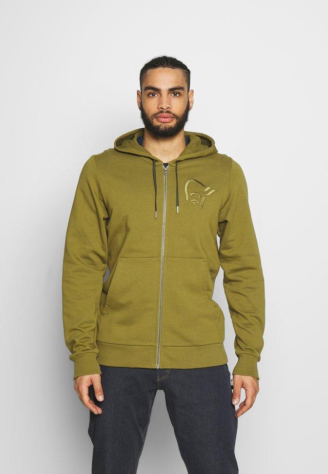 ZIP HOODIE - Zip-up hoodie - olive drab