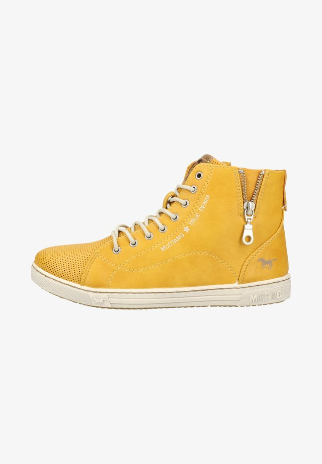Sneakers hoog - yellow
