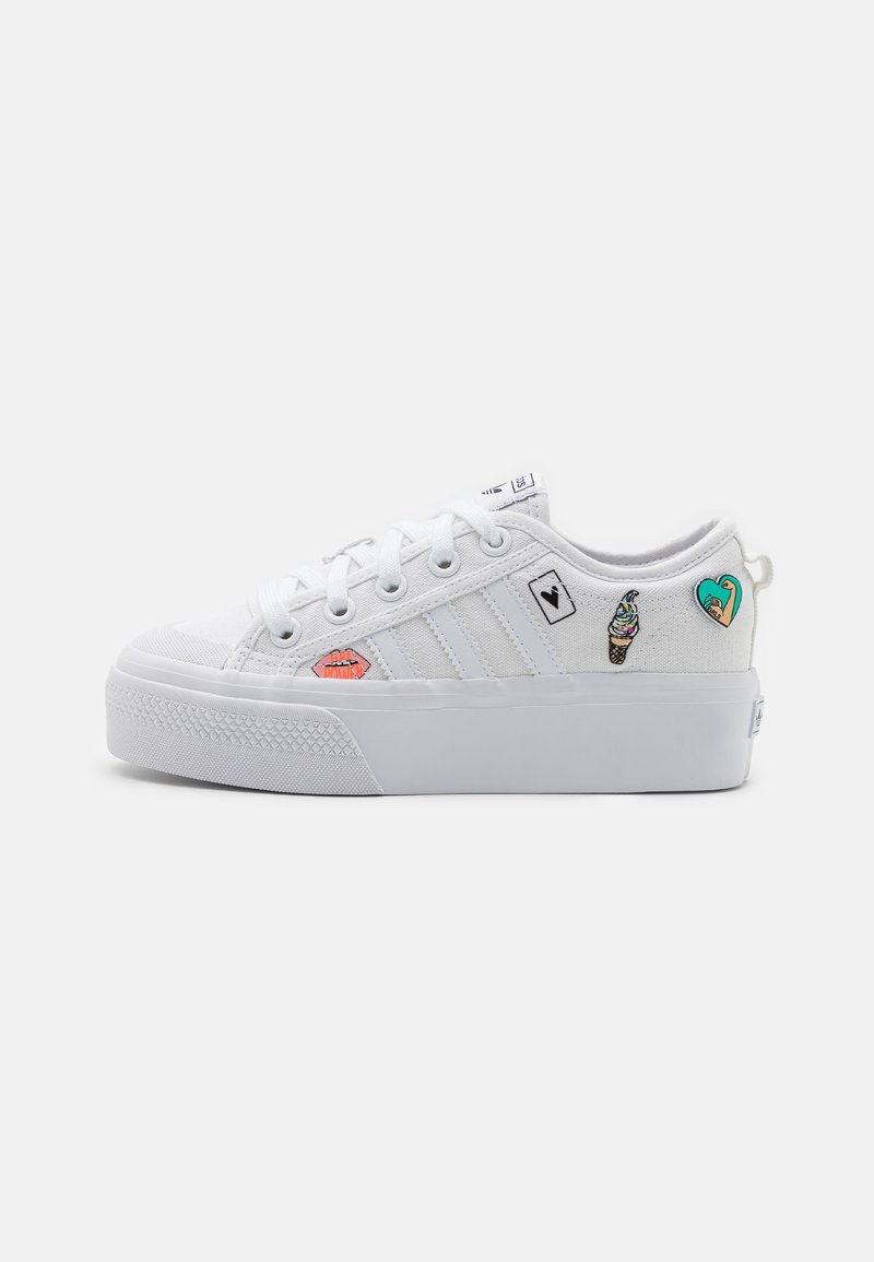 adidas Originals - NIZZA PLATFORM UNISEX - Baskets basses - footwear white