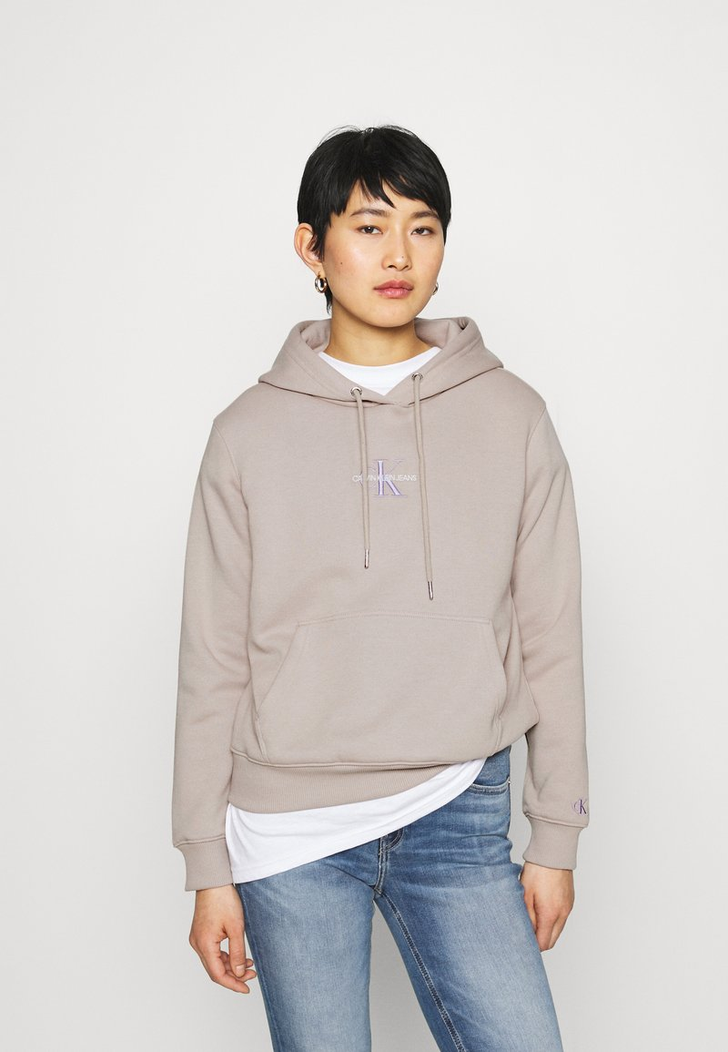 Calvin Klein Jeans - MONOGRAM LOGO - Hoodie - beige