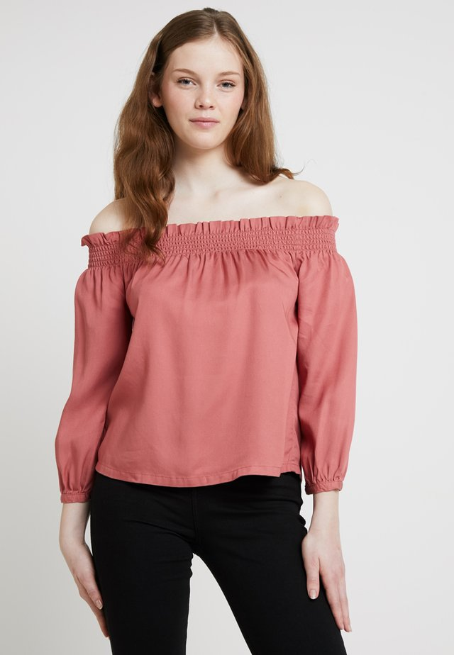 ONLSAMANTHA 3/4 OFF SHOULDER - Blusa - canyon rose