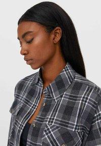 Stradivarius - Button-down blouse - grey - 3