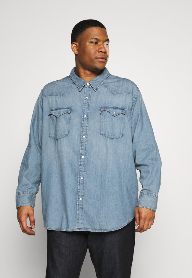 BIG BARSTOW WESTERN - Shirt - light-blue denim