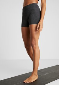 Cotton On Body - HIGHWAISTED SHORT - Tights - charcoal marle - 0