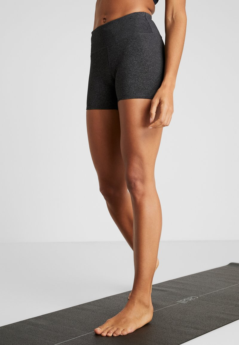 Cotton On Body - HIGHWAISTED SHORT - Tights - charcoal marle