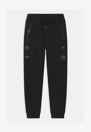 JUNIOR - Tracksuit bottoms - black