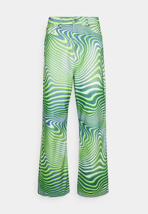 GREEN WARPED WAVE SKATE JEANS - Džínsy voľného strihu - cream/mint