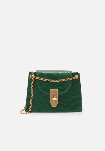 THEELE - Handbag - hunter green/dark gold