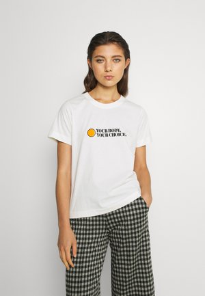 MYSEN YOUR BODY - Print T-shirt - offwhite