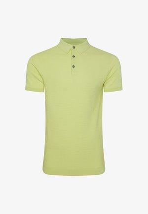 WE FASHION HEREN POLOTRUI MET STRUCTUUR - Poloshirt - green