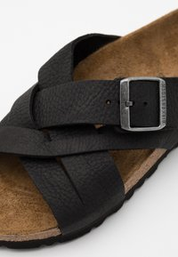 Birkenstock - LUGANO NARROW FIT - Pantofole - camberra old black - 5