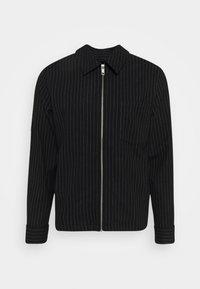 AHMED PINSTRIPE OVERSHIRT - Summer jacket - black
