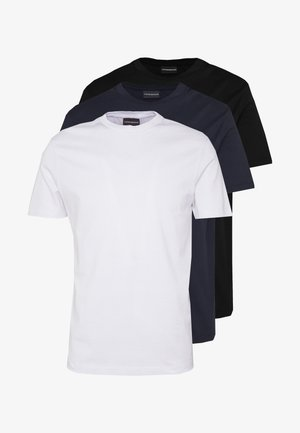 T-Shirt basic - biancoblu nero