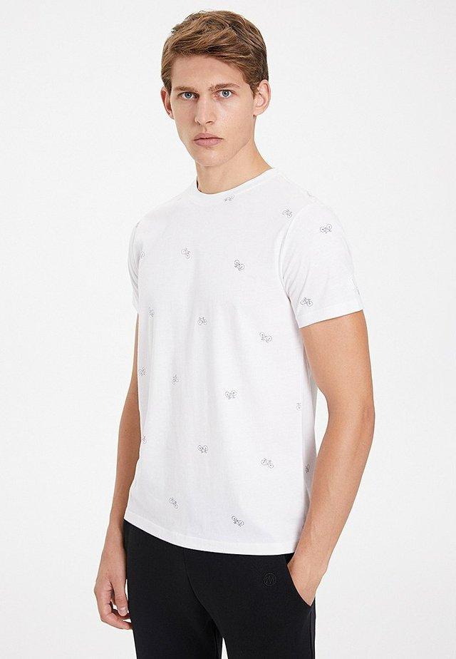CYCLE - Print T-shirt - white