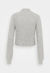 Even&Odd - CROPPED PERKIN NECK - Svetr - light grey melange - 1