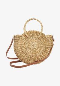 Next - CIRCLE STRAW - Handbag - beige - 1
