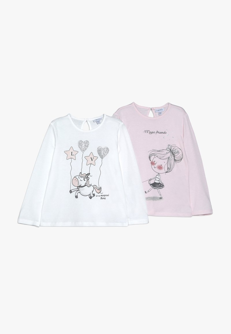 OVS - BABY PRINT 2 PACK - Long sleeved top - barely pink/white alyssum