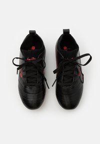 Diadora - BRASIL ELITE R LPU JR UNISEX - Moulded stud football boots - black/red fluo - 3