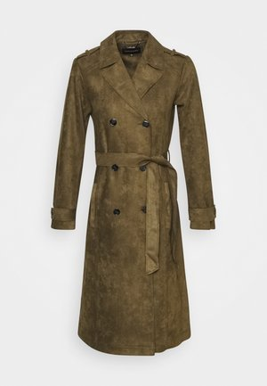 COAT - Trench - olive dust