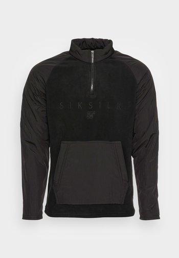 HYBRID  ZIP - Sweater - black