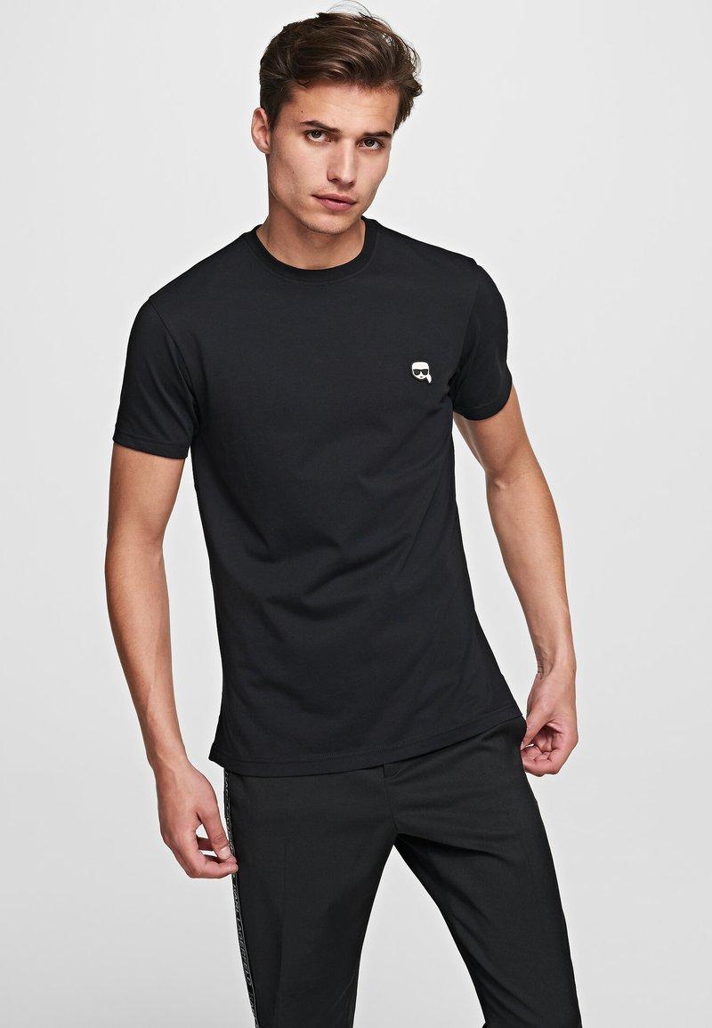 KARL LAGERFELD - IKONIK - Basic T-shirt - black
