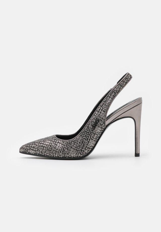 MILU SLING BACK - Classic heels - pewter