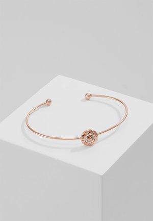 ELVAS MINI BUTTON ULTRAFINE CUFF - Bracelet - rosegold-coloured/silver glitter