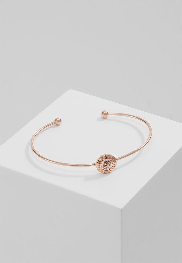ELVAS MINI BUTTON ULTRAFINE CUFF - Armband - rosegold-coloured/silver glitter