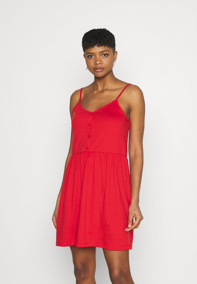 VIDREAMERS SINGLET SHORT DRESS - Sukienka z dżerseju - flame scarlet