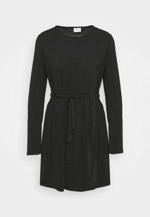 VIEBONI TIE DRESS - Sukienka z dżerseju - black