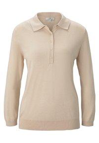 TOM TAILOR - PULLOVER & STRICKJACKEN PULLOVER MIT POLOKRAGEN - Polo shirt - silky vanilla melange - 0