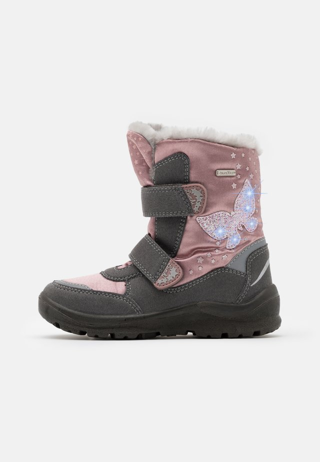 KIMA SYMPATEX - Winter boots - grey/pink