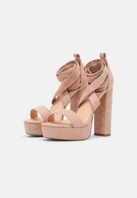 Even&Odd - Sandalias con plataforma - light pink - 2